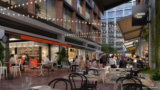 Discover laneway dining, Macquarie Exchange, Macquarie Park
